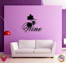 Wall Sticker Vine Wine List Grape Modern Decor for Bar z1363