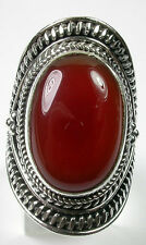 LARGE CARNELIAN STATEMENT RING IN STERLING SILVER
