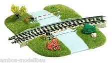 BUSCH 3209 H0, Bahnübergang, gebogen, 2-teilig, Fertigmodell, Neu