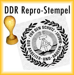 DDR Stempel - DDR Siegel - Für den Schutz der Arbeiter und Bauern Macht - Repro