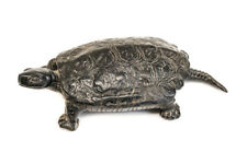Chinese Bronze Tortoise Turtle Box, 19th century, hinged lid Makers mark on base
