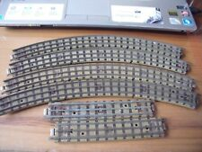 HORNBY DUBLO 3 RAIL TRACK 4 X SMALL RADIUS CURVES + 2 HALF STRAIGHTS  SEE PHOTOS