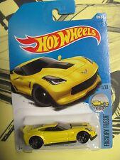 2017 Hot Wheels Case F Corvette C7 Z06 #128 Yellow 7 avail