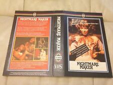 PRE CERT NIGHTMARE MAKER ATLANTIS DPP 72 VIDEO NASTY BIG BOX EX RENTAL VIDEO VHS