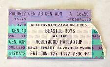 "Beastie Boys ""Check Your Head"" Tour 1992 Ticket Stub Hollywood Palladium"