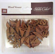 *** Studio Calico 35 Die Cut Wood Veneer Boats & Anchors - SCRAPBOOKING - Crafts