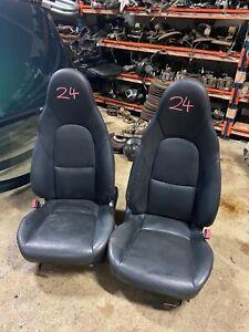 Mazda Mx5 Set of Black Leather Seats  ------ ( 24 )