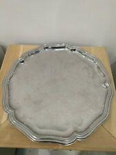 Decagon Silver Coloured Tray 34cm Across