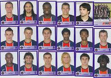 PANINI FOOTBALL 2006 PARIS SAINT GERMAIN LOT DE 18 IMAGES