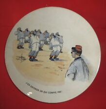 Plate Sarreguenines, Humorous, Military to the 1900, D' after Guillaume