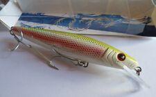 Noeby leurre traine Minnow 18cm 67g nage 0 à 4m couleur jaune rose pailleté or