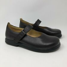 Birkenstock Footprints 40 / 9-9.5 Narrow Mary Jane Shoes Brown Leather Womens