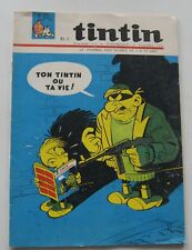 JOURNAL TINTIN NO.871 SPAGHETTI/CHICK BILL/L'ILE BLACK 1965 GOOD CONDITION