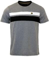Crew Neck Short Sleeve Striped FILA T-Shirts for Men