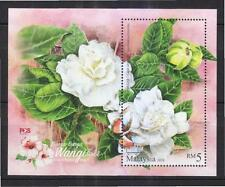 MALAYSIA 2016 SCENTED FLOWERS SERIES 2 (CAPE JASMINE) SOUVENIR SHEET OF 1 STAMP