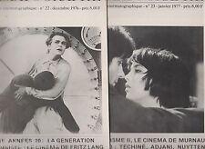 CINEMATOGRAPHE 1976- n°22 & 23- Allemagne Années 20. Expressionnisme. Murnau...
