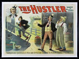 THE HUSTLER ✯ CineMasterpieces THEATRE PLAY POSTER APPLE CIDER CON ARTIST 1893