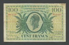 FRENCH EQUATORIAL AFRICA  100 francs  1944  P18  F to VF   World Paper Money