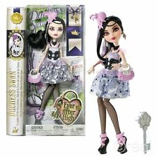 New Ever After High Royal Duchess Swan Doll & Key Hairbrush Official