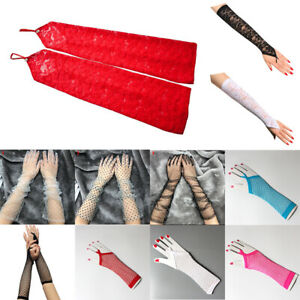 Womens Gloves Long Lace Gloves Fingerless Gloves Sexy Floral Elbow Length Gloves
