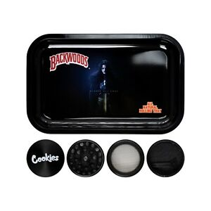Rolling Tray Bundle + Cookies Grinder 4 Layers 40mm 6 Colors Starter Kit