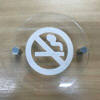 Round Engraved Shower Sign Clear Gloss Acrylic Finish /& Chrome Fixings