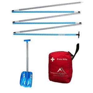 Safety Kit Notfallset für Skitouren und Freerider+Set mit Schaufel, Sonde u. Kit