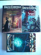 David Eddings ~ Elenium 1-3 (Diamond Ruby Sapphire) 1st Ed HCDJs VGC-Like New