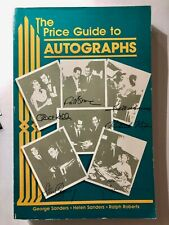 The Price Guide To Autographs -  Sanders & Roberts - NEW
