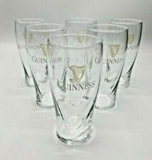 6 GUINNESS PINT BEER GLASSES  BRAND NEW 16 OZ.  LOT OF 6  GOLD HARP EMBOSSED