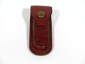 Vintage Small PUMA Solingen, Germany Leather Folding Knife Belt Sheath