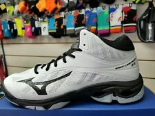 Mizuno Wave Lightning Z4 Mid Unisex Men's 10.5 Fits  Women's Size White Black