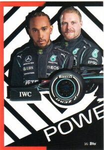 TOPPS TURBO ATTAX TCG F1 2021 #16 Lewis Hamilton & Valtteri Bottas Mercedes AMG