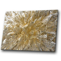 Gold White Brown Marble Abstract Canvas Wall Art Large Picture Prints