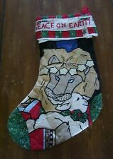 Mary Engelbreit Me Quilted Christmas Stocking Lion Lamb Holiday