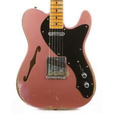 Fender Custom Shop 50s Telecaster Thinline Heavy Relic Faded Burgundy Mist Metal