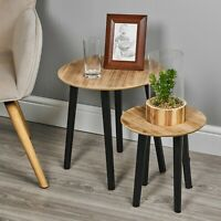 Round Modern Wooden MDF Side End Table Design Coffee Living Bed Room Furniture