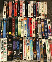 VHS VCR Video Movie Huge Lot O 48 Comedy Romance Action (Lesser Condition)