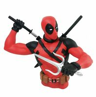 Deadpool with Swords Molded Bust Bank Figure Coin Bank Marvel Universe