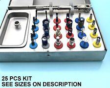 Dental Implant Tissue Punch trépan scie disque Perceuse Kit Torque À Cliquet - 25 pcs