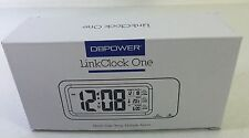 DBPOWER® Linckclock Clock ONE LCD Display ALARM MONTH DATE TEMP BRAND NEW