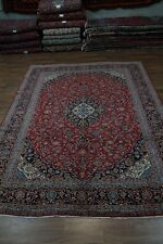 Traditional Large Signed Red Kashan Persian Wool Rug Oriental Area Carpet 10X13