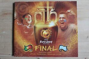 EURO 2004 FINAL PROGRAMME (GREECE V PORTUGAL) (04/07/2004) *FOOTBALL PROGRAMME*
