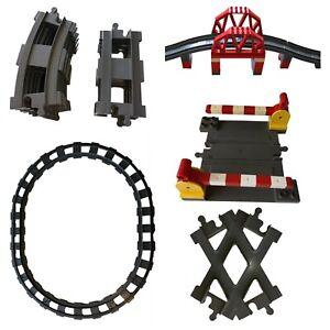 Lego Duplo Eisenbahn Schienen Gleisen Gerade Grau Brücken gereinigt E-LOK Bahn