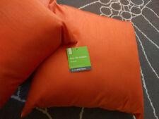 Luxurious Faux Silk Orange Square Cushion 40cm x 40cm
