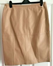 M&S AUTOGRAPH Leather Skirt Mocha size 16 :-)
