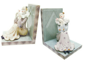 Pair Of Clown Bookends