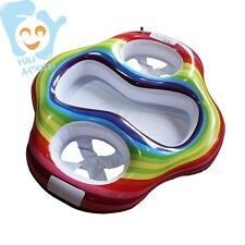 Inflatable Twin Baby Double Swim Float Seat Summer Water Fun Toys Pool Floats