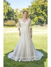 Venus Bridals 'VW8774'.  Lace Wedding Dress.  Size 24. Long Sleeves. Sample.