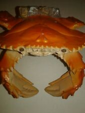 Red Claw Crab Beach Ocean Decorative Figurine Candle Glass Bottle Holder 5x5 in